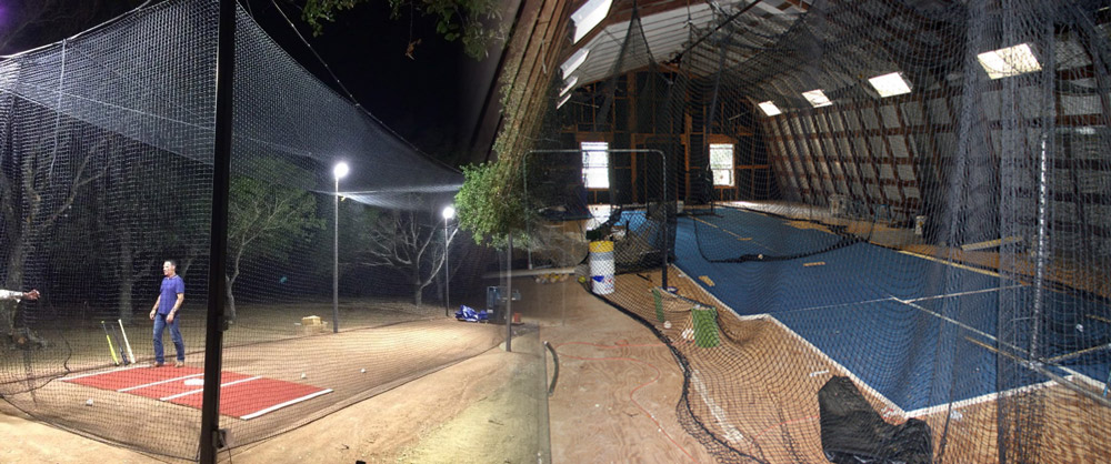 How to Illuminate Backyard & Indoor Batting Cage with LED ...